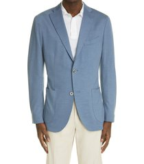 men's boglioli k wool jersey sport coat, size 46 us - blue