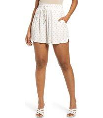 women's afrm lora tie waist shorts, size large - white