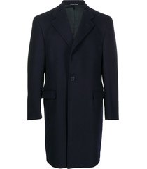 a.n.g.e.l.o. vintage cult 2000s notched lapels thigh-length coat -