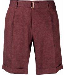 briglia 1949 straight-leg linen shorts - red