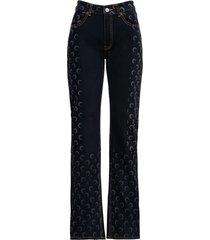 marine serre moon five pockets denim jeans