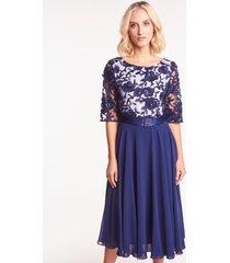 granatowa sukienka koronkowa clara