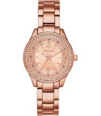 skechers women's rose gold-tone alloy analog watch, 31.5mm