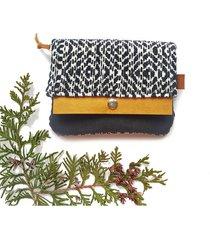 portfel boho mini - czarny etniczny