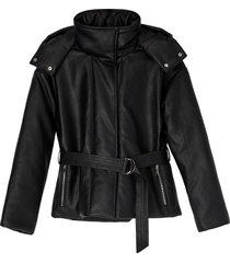 matt & nat lisbon puffer jacket, black
