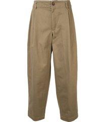 comme des garçons shirt loose-fit mid-rise trousers - brown