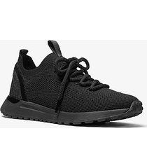 mk sneaker bodie in mesh con logo - nero (nero) - michael kors
