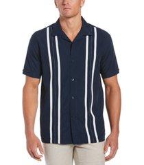 cubavera men's contrasting panel short-sleeve shirt