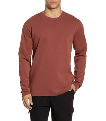 men's acyclic slim fit long sleeve t-shirt, size small - orange