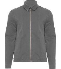 jaqueta masculina recorte e zíper - cinza