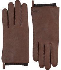 men's hestra tony deerksin leather gloves, size medium - brown