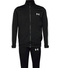 ua knit track suit sweat-shirts & hoodies tracksuits - sets zwart under armour
