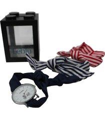 reloj multicolor leblu pañuelo