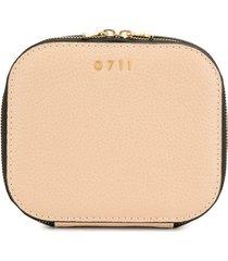 0711 tan medium ela cosmetic bag - neutrals