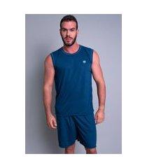 pijama mvb modas  curto adulto camiseta azul