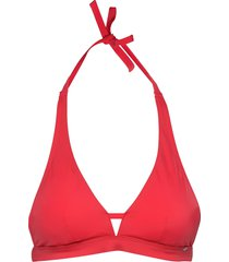 l. triangle remov. pads bikinitop röd skiny