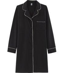 camisola hering chemise manga longa preto - preto - feminino - dafiti