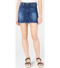 flying monkey high rise raw hem mini skirt