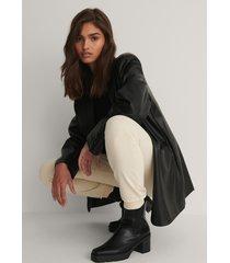 na-kd shoes lårhöga stövlar med profilsula - black