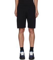 side logo tape elastic waist cotton jersey shorts