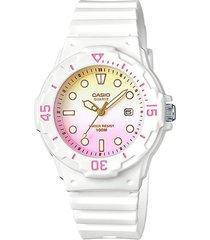 reloj casio modelo casio analogo blanco mujer