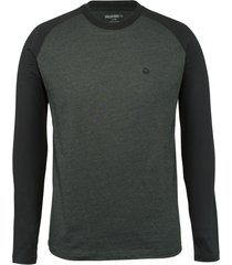 wolverine men's brower long sleeve tee onyx heather, size xxl