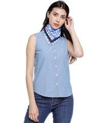 blusa azul tommy hilfiger