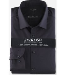 olymp 200864 18 level 5 navy stretch tricot overhemd -