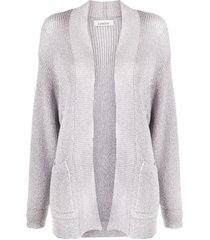 laneus slouchy knitted cardigan - grey