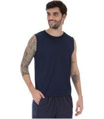 camiseta regata oxer basic light - masculina - azul escuro/prata