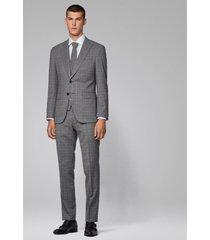 traje 3 piezas slim fit gris oscuro boss