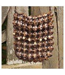 coconut shell shoulder bag, 'eco lover' (thailand)