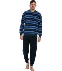 heren pyjama robson badstof 27202-711-2 blauw-xs/46