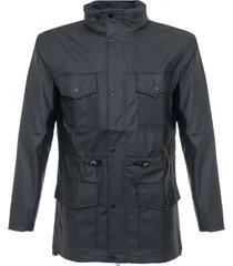 rains four pocket blue jacket 1237 02
