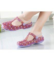 sandalias de cuña de playa para mujer-púrpura