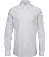button down washed o skjorta business vit calvin klein