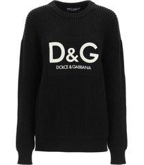 dolce & gabbana crewneck sweater with logo