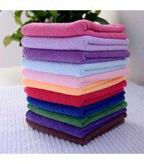 10pcs-square-luxury-soft-fiber-face-hand-car-cloth-towel-24-5-23-5cm-house-clean