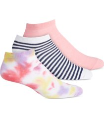 jenni women's tie-dyed & striped 3pk socks, created for macy's