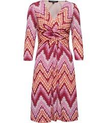 dress jurk knielengte roze ilse jacobsen