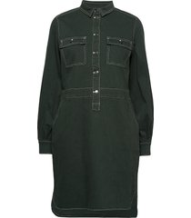 dress w. long sleeves knälång klänning grön coster copenhagen