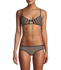 horizon stripe ross bikini top