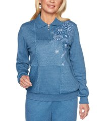 alfred dunner all about ease embellished sweatshirt