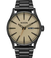 men's nixon 'the sentry' bracelet watch, 42mm