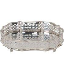 bandeja decorativa banho de prata heiden