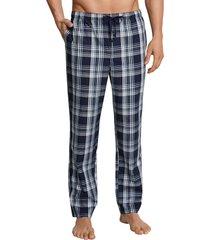 schiesser pyjamabroek blauw geruit