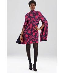 ikebana floral cape dress, women's, size 4, josie natori