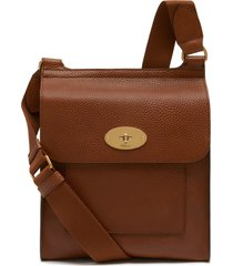 mulberry antony leather crossbody bag - brown