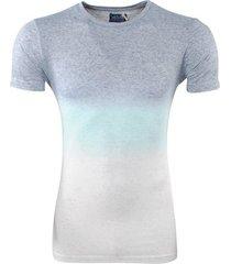 earthbound heren t-shirt ronde hals - mint groen sand grijs