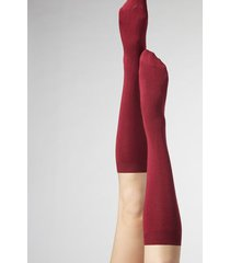 calzedonia long socks in cotton with cashmere woman red size 39-41